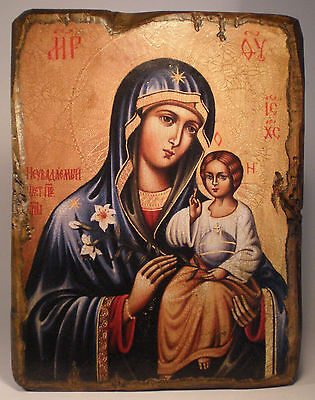 Handmade copy ancient ORTHODOX Church ICON VIRGI Our Lady of Perennial Color34XL