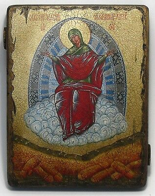 Handmade copy ancient ORTHODOX CHURCH ICON Mother of God Provider of Bread 42XL
