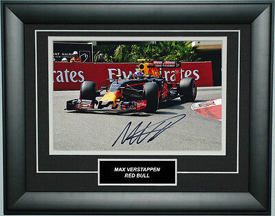 Max Verstappen Signed 8X12 inches 2016 Red Bull F1 Monaco GP Photo Frame