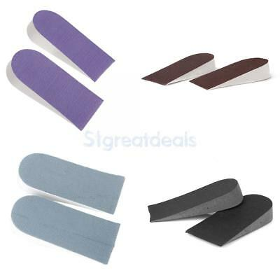 """4 Pairs Foam Height Increase Insoles Shoes Half Pads Heel Lift Taller Pad 1"""""""