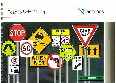VIC ROADS Road To Solo Driving Car Learner Book 2018 April Edition + 2 L Plates