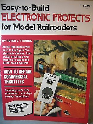 """""""easy Electronic Projects For Model Rrs"""" Booklet By Peter Thorne, 1988, Used"""