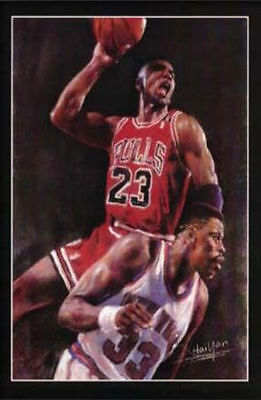 Michael Jordan / Ewing - Chicago Bulls - Basketball Mini Poster - NBA