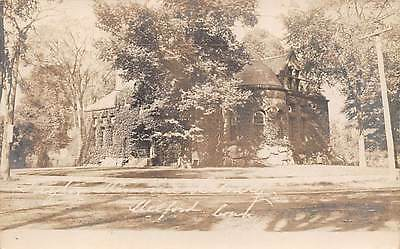 MILFORD, CT ~ PUBLIC LIBRARY ~ REAL PHOTO PC ~ used 1910