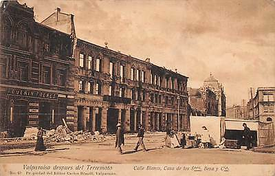 Valparaiso, Chile, Ruins From 1906 Earthquake, Calle Blanco & Casa, People