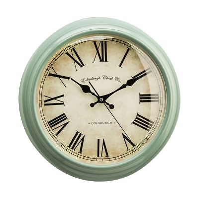 Vermont Wall Clock (Green)   Traditional Design   Antique Look   Roman Numerals