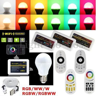 E27 RGBW W/WW LED Milight WiFi Controller Dimmable RF 110V 220V pour Android iOS