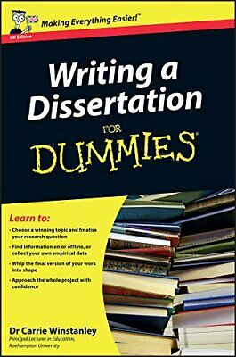 Writing a Dissertation For Dummies, Winstanley, Carrie Paperback Book The Cheap