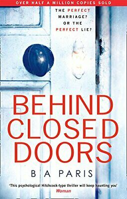 Behind Closed Doors by B A Paris Book The Cheap Fast Free Post
