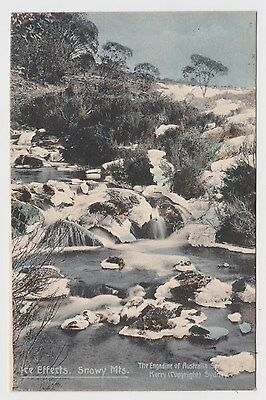 Ice Effects Snowy Mountains NSW OLD  POSTCARD Kerry postmark 1908