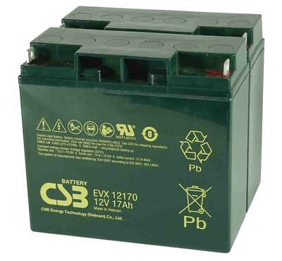 CSB 12V 17AH Pair Mobility Scooter Sealed Lead Acid Batteries EVX12170 Battery