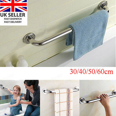 UK Stainless Steel Grab Bar Bathroom Support Handle Handrail Disability Aid Hold