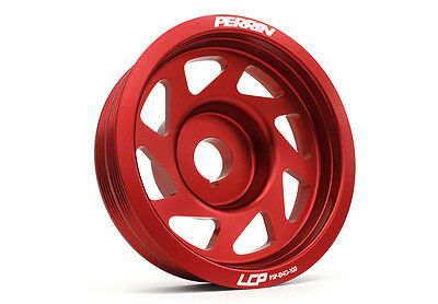 Perrin Performance Red Lightweight Pulley - fits Subaru Impreza WRX/ STI 93-16