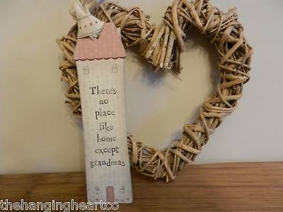 EAST OF INDIA Vintage Shabby Chic There's No Place Home Grandmas Gift Bookmark