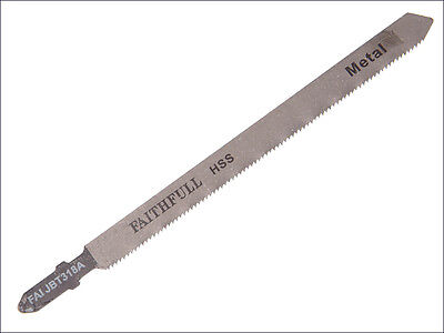 FAITHFULL BOSCH T FIT T318A  LONG JIGSAW BLADE FOR METALS - Pack of 10 Blades