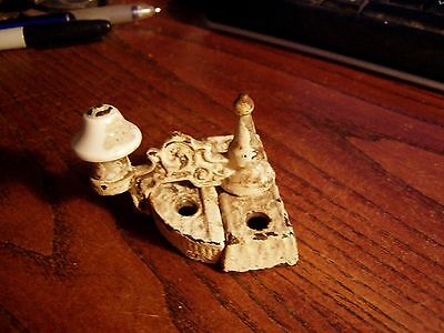 Window latch sash locks swing arm brass bell porcelain knob 1880's old vintage
