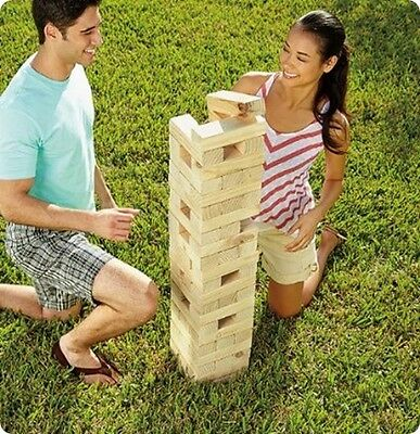 New Giant Wooden Tower Tumbling Jenga Blocks Indoor/outdoor School Holidays Game