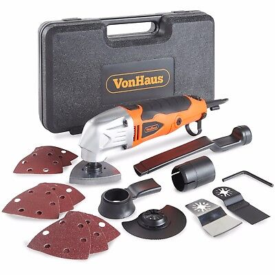 VonHaus 280W Oscillating Multitool Detail Sander 15Pc Accessory Kit 230V Corded