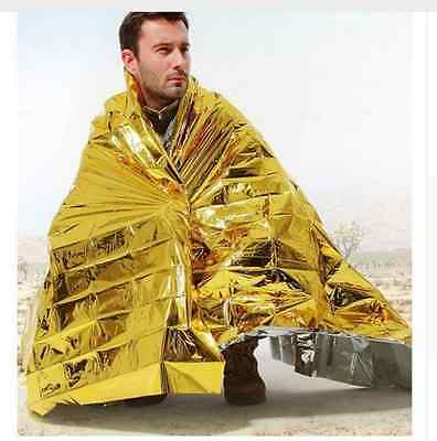 Survival Blanket Camping Emergency First Aid Kit Travel Outdoor Hiking Army Gear