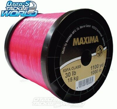Maxima Tournament IGFA Monofilament Mainline 1000m Spool in Pink BRAND NEW