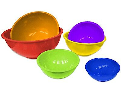 Gourmet Home Products 6 pc Multicolour Mixing-Bowl Set with with Red Outer Bowl