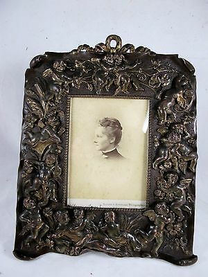 Bronzed Photo Frame With Remnants Of Gilding C1900