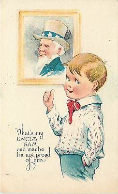 Charles Twelvetrees~ Patriotic~Lil Boy~Picture~Thumbs Up~Thats My Uncle Sam~WWI
