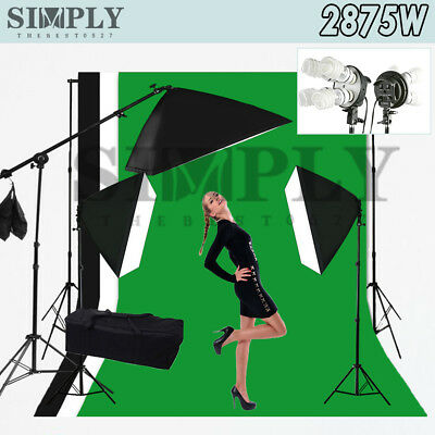 Photography Studio Softbox Soft box Continuous Lighting Light Stand Backdrop Kit