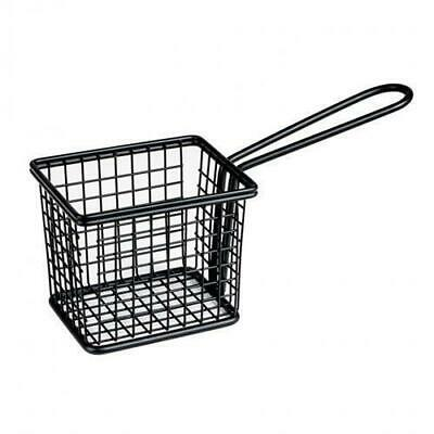 Fryer Style Serving Basket 78x94mm, Black, Chips / Fries / Sides / Tapas