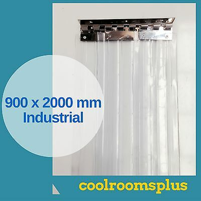 900 x 2000 PVC Strips Clear Plastic Door Curtains Industrial Entry Strips