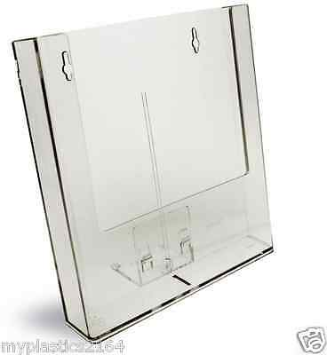 Clear Wall Mounted A4 Brochure/Flyer Holder - Aussie Seller