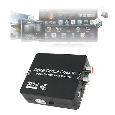 DTS/Dolby Digital Optical Coax Toslink to Analog RCA Audio Decoder Converter DC