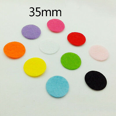 50-500pcs  UPICK Colors Die Cut Felt Circle Cardmaking Appliques decoration 35m