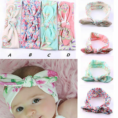 4pcs/set Kids Girls Baby Headband Toddler Bow Flower Hair Band Headwear Accessoy