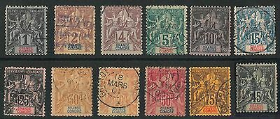54999 - French Colonies: Grande Comore - Stamps:  Yvert 1/6 + 8/12 + 18 Used