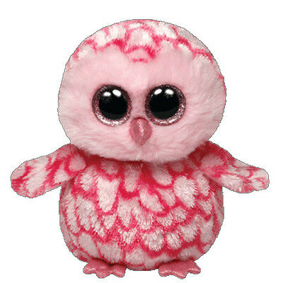 New Ty Beanie Boos Pinky the Owl Soft Toy