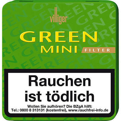 10 x 20er Villiger Green Mini Filter Cigarillos