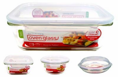Lock & Lock Oven Glass Roasting Baking Dish Storage Container Microwave Safe