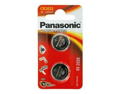 Panasonic CR2032 3V Lithium Coin Cell 1 Card of 2 Cells