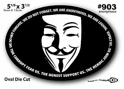 Large Sticker Euro Guy Fawkes Laptop Revolt Anonymous Hacker V Mask Obey 903