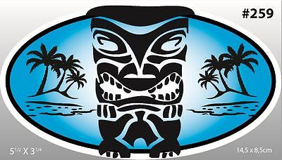 Sticker Tahiti HI Hawaii Hawaiian Aloha Decor Tiki Hula Maui Hibiscus Surf #259