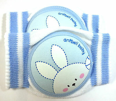 Crawling Baby Knee Cushion Cotton Sponge Pads Protector Mesh Type CA Blue