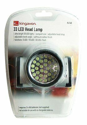 33 Led Headlight Head Lamp Light Torch Camping Flashlight Super Bright Led Torch