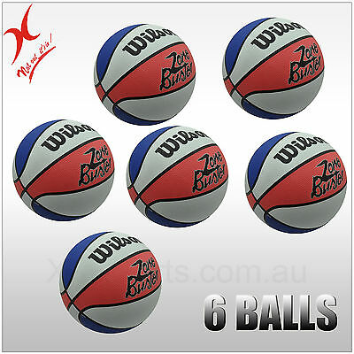 1 or 2 or 4 or 6 WILSON BASKETBALL - ZONE BUSTER - SIZE 7