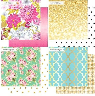 "Webster's Pages Make A Wish 1x Double-Sided Cardstock 12""X12"" Scrappapier 30,5cm"
