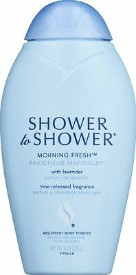 5 Pack - Shower To Shower Absorbent Body Powder Morning Fresh 8 oz Each