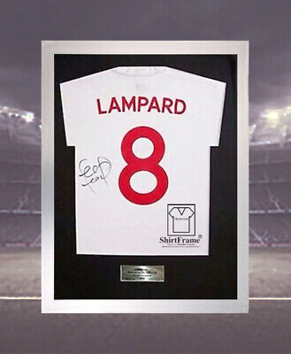Diy T-Shirt Frame For Signed Football Shirt  *free Personalised Metal Plaque*