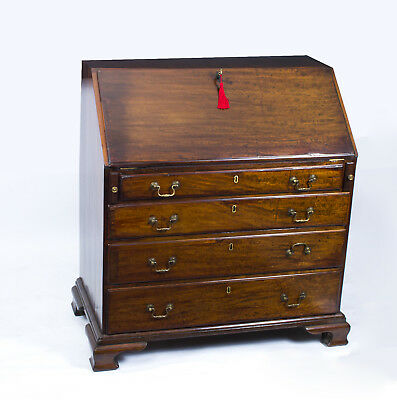 Antique English George III Mahogany Bureau c.1780