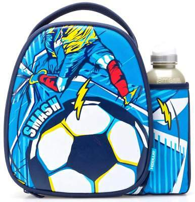 Smash Goal Lunch Bag/Box and 500ml Bottle Set | Football Lunchbox