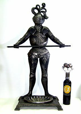 1960's Cast Metal Knight Umbrella Stand